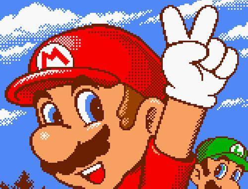 Mario showing the peace symbol during a round of Golf