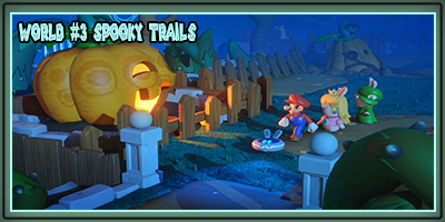 World 3 Spooky Trails Banner