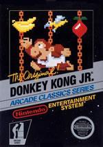 Donkey Kong Jr front box cover for NES