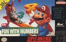 Mario teaches numbers in Mario's Early Years Fun with Numbers on the SNES