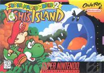 Super Mario World 2 Yoshi's Island box cover