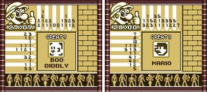 Mario's Picross - Easy Picross featuring Boo Diddly and Mario
