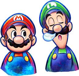 Mario & Luigi from the games cover art