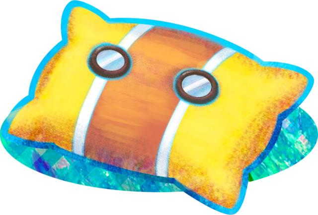A yellow pillow 2 from Mario & Luigi: Dream Team