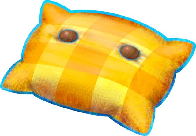A yellow pillow 3 from Mario & Luigi: Dream Team