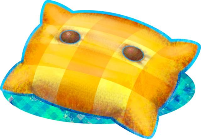 A yellow pillow 4 from Mario & Luigi: Dream Team