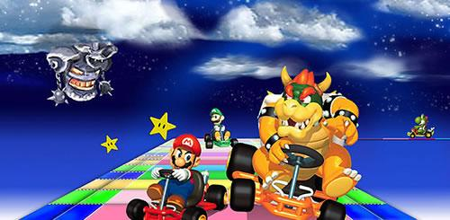 Mario and Bowsers rivalry isn't even paused for the treachery of rainbow road