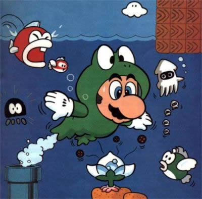 Frog Mario In Water Land