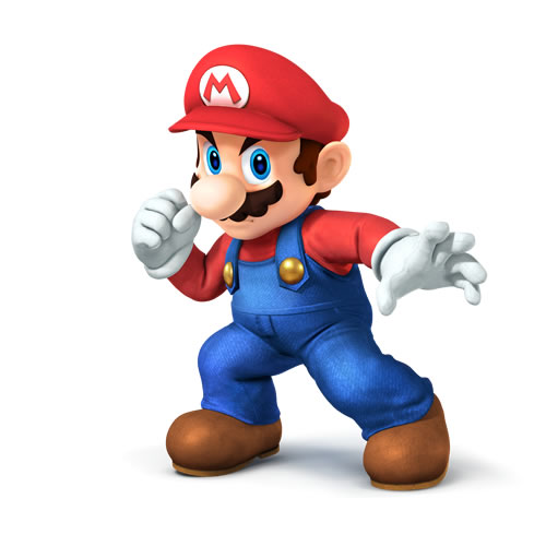 Mario in Super Smash Bros