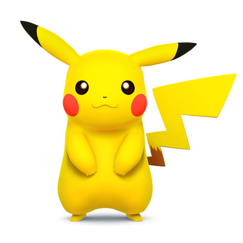 Pikachu in Super Smash Bros