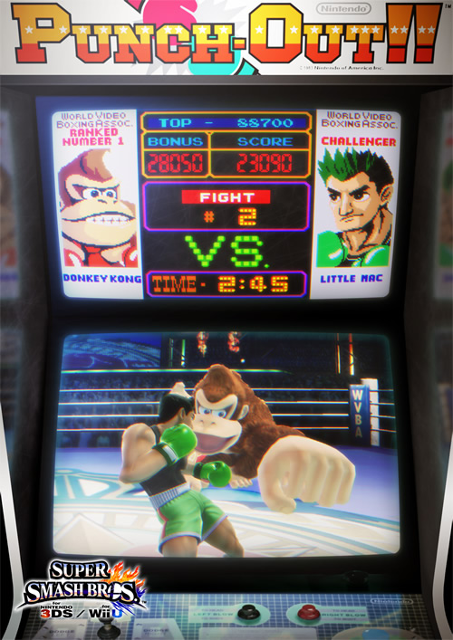 Little Mac pounding Donkey Kong