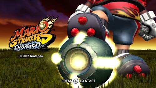 Mario Strikers Charged title screen