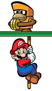 Mario holding onto a Monchees tail