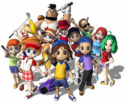 The original non-Mario characters from Mario Golf: Advance Tour