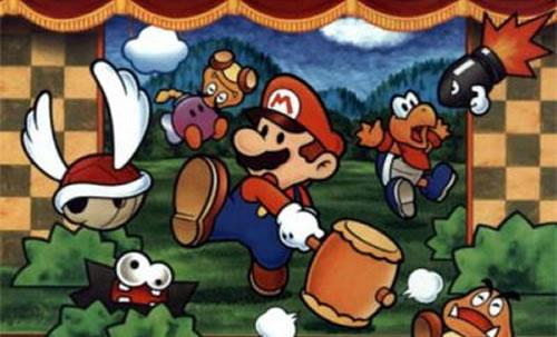 Mario surrounded by enemies