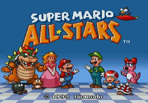 Super Mario Allstars title screen