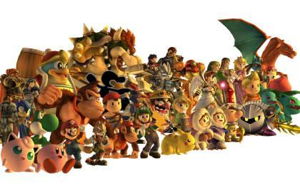 The cast of Super Smash Bros. Brawl