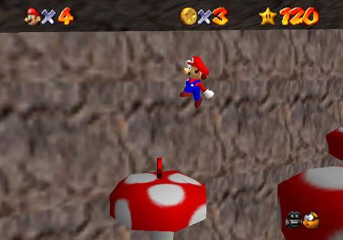 Mario going for a red coin on Tall Tall Mountain