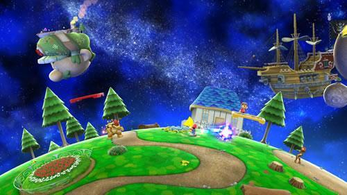 A Super Mario Galaxy stage in Super Smash Bros U and 3DS