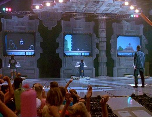 An image showing the Suepr Mario Bros 3 scene in The Wizard Movie