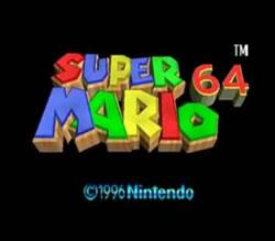 Super Mario 64 for the N64 title screen