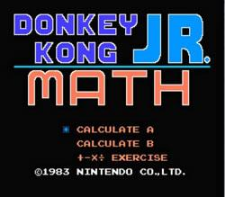 Donkey Kong Jr. Math title screen
