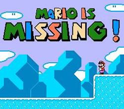 Mario is Missing titlescreen NES version