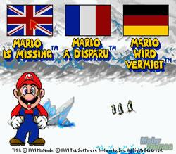 Mario is Missing titlescreen PC version