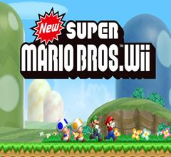 New Super Mario Bros. Wii title screen