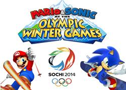 Mario & Sonic at the Sochi Winter Olympic Games 2014 title screen