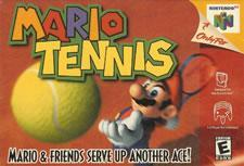 Mario Tennis small box art for the N64